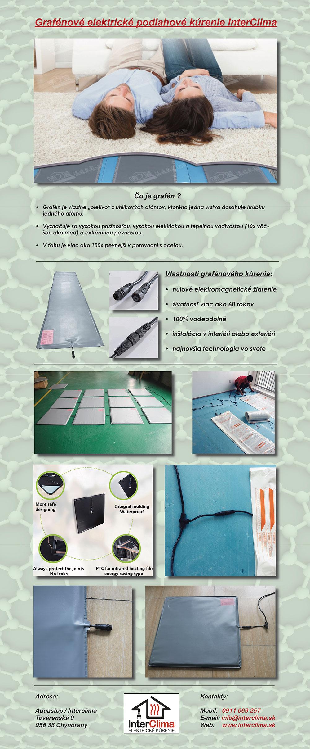 Grafémové elektrické podlahové kúrenie